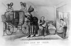 The Age of Iron: Man as He Expects to Be, Currier and Ives, lithograph, 1869 (Library of Congress)