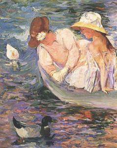 "Mary Cassatt, ""Summertime,"" c. 1894 [Public Domain] via Wikimedia Commons"