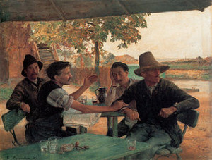 Émile Friant, Political Discussion, 1889 [Public Domain] via Wikimedia Commons