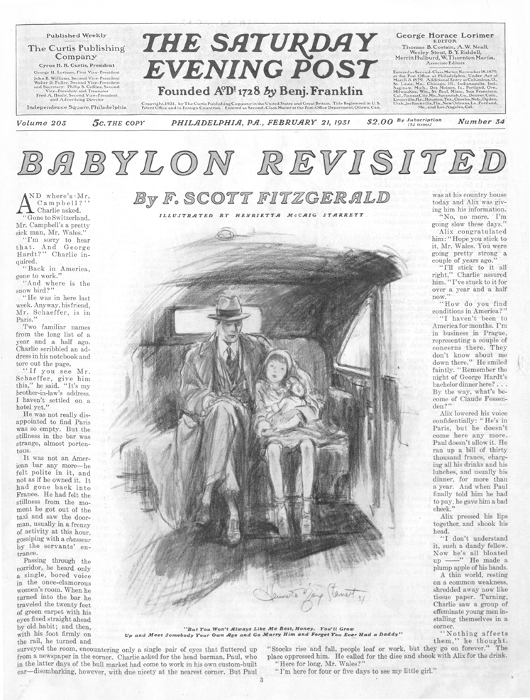 "critical essay on babylon revisited Short stories of f scott fitzgerald study guide ""babylon revisited "" is these papers were written primarily by students and provide critical analysis."